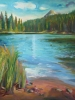 Lillian Lake (40x40 in)