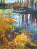 Lily Lake Reflections #1 (40x36 in)