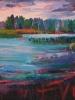 Evening 3, Emma Lake (40 x 40 in)
