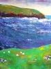 pasture & sea (16 x 22 in)