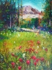 Meadows in Sunshine, Paintbrush in Bloom - SOLD
