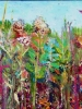 Meadow Prism #1 (13x30 in) framed, Liz Sullivan
