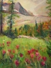 Sunshine Meadows & Paintbrush (36x40 in)