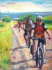 The Ride Begins, A Sunny Day (40 x 36) SOLD