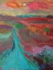 Evening Glow, Foothills (16 x 16 in) SOLD