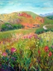 Foothills Meadows  (36 x 36 in) acrylic on panel - SOLD