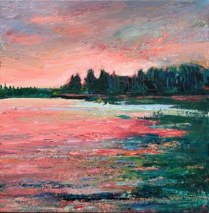 Evening 4, Emma Lake (16 x 16 in)