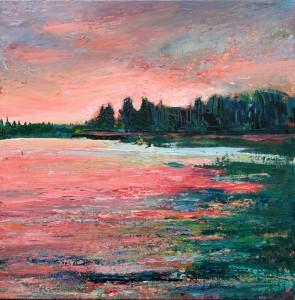 Evening 4, Emma Lake (16 x 16 in)