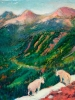 Mountain Goats, Waterton (6x6-in)