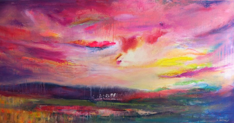 Sunset Splendor (24x48 in)