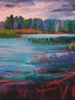 Evening 3, Emma Lake (40 x 40 in)