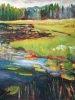 Lily Lake Shoreline (36x40 in) SOLD