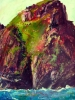 Skellig Michael Arrival (30 x 22 in) SOLD