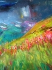 Sunny Meadows, Stormy Skies (40x40 in)
