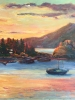Bowen Island Sunset (36x48 in)
