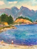 Kids on Beach, Bowen Island (16x20 in)
